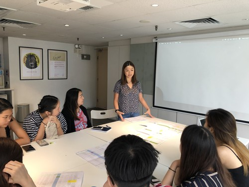 Image: Intern sharing session, Internship Programme, 2018.