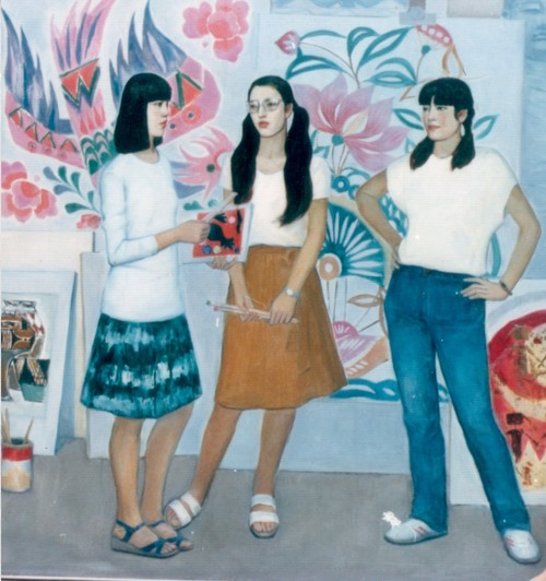 Image: Leah Wang Lihua,  <i>Exchange</i>, 1985, oil on canvas. Courtesy of the artist.