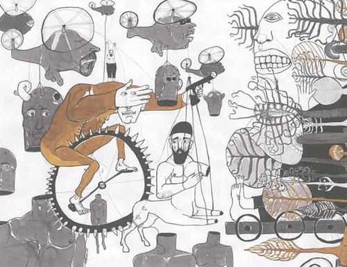 Image: Golan Haji, and Mohamad Omran, <i>Eyes</i>, 2013, poem, and ink on paper.