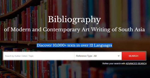 Bibliography of Modern and Contemporary Art Writing of South Asia