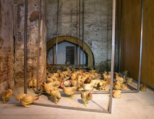 Image: Duan Jianyu, <i>Artistic Chicken</i>, 2003.