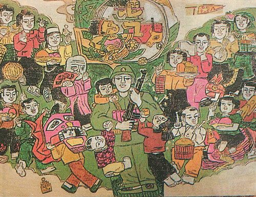 Image: Lê Trọng Lân, Anh bộ đội [Soldier], 1981, woodblock print, 50 x 60 cm