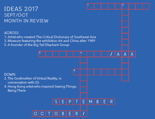 Image: <i>Ideas</i> crossword.