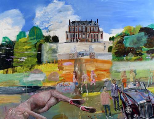 Chateau du Marechal de Saxe, Bentley and Lehman Brothers, 2009, oil on canvas