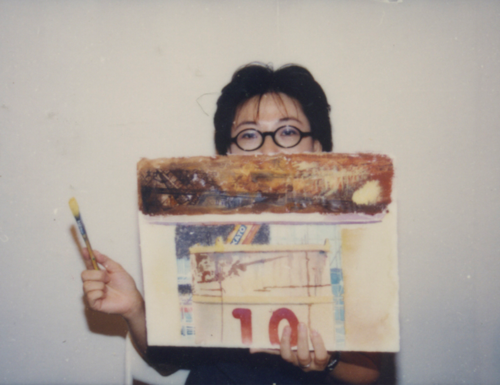 Image: Ha Bik Chuen, Contact Sheet No.181 'Demonstration by Cindy Lau', 3 October 1998 (detail).
