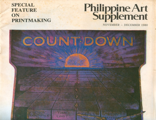 Image: Cover of <i>Philippine Art Supplement</i>.