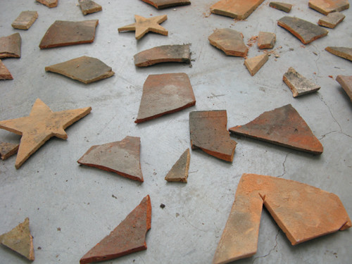 Image: Li Jinghu, <i>Counting Stars</i>, 2009, tiles