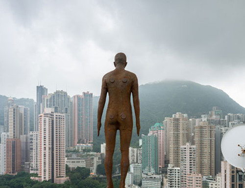 Antony Gormley, Event Horizon, presented in Hong Kong by the British Council.