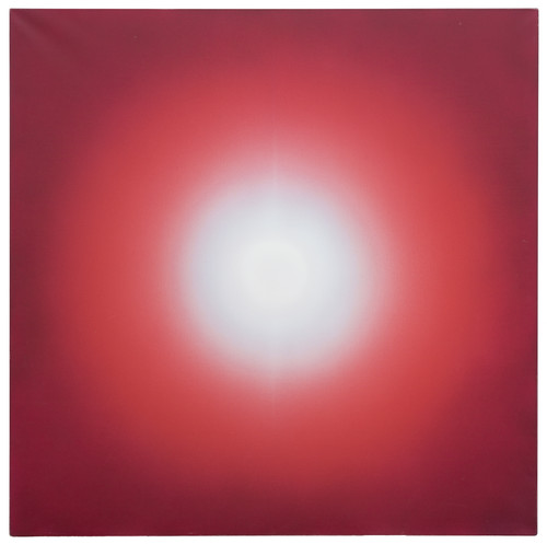 Image: <i>Ours Ever</i>, 1974, acrylic on canvas, 132 × 132 cm. Collection of the artist. Courtesy of Ben Brown Fine Arts.