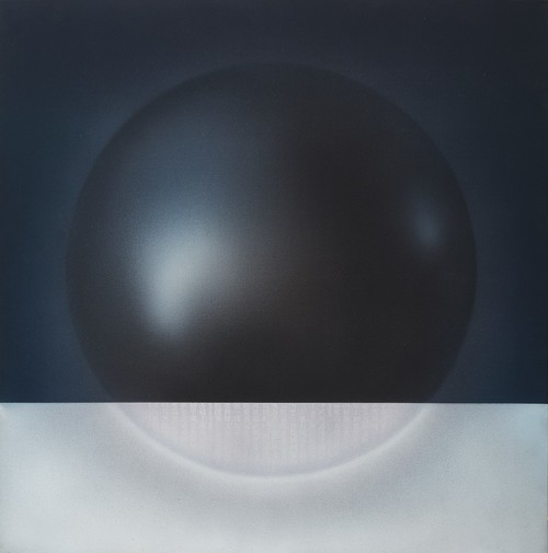 Image: <i>Floating Weight</i>, 1976, acrylic on canvas, 130 × 131 cm. Collection of the artist. Photo: Arnold Lee. Courtesy of Choi Yan-chi.