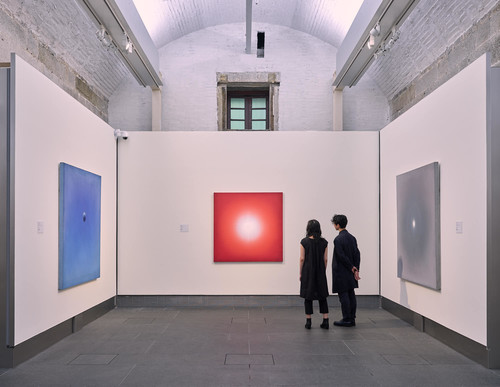 Image: Installation view of <i>A Story of Light: Hon Chi-fun</i> at Asia Society Hong Kong Center in 2019. Courtesy of Choi Yan-chi.