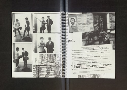 Image: Shahin Barzin's yearbook page, on the right. Courtesy of Rhode Island School of Design.