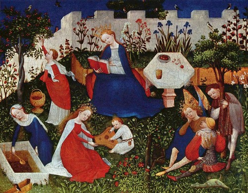 Image: Upper Rhenish Master, <i>Garden of Paradise</i>, c. 1410. Courtesy of the Städel Museum Collection.