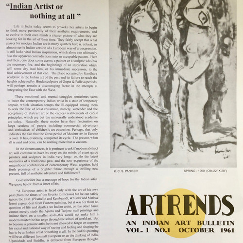 Image: Cover of <i>Artrends</i>, Vol. 1, No. 1, October 1961.