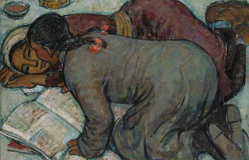 Image: Zheng Shengtian,<I>Reading</I>(reproduction), 1963, oil on canvas, 100 × 65cm. Courtesy of Zheng Shengtian.
