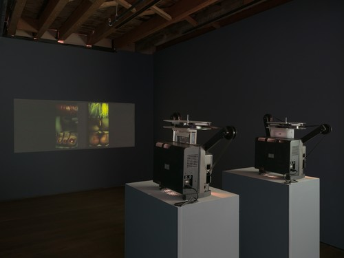 Image: Installation images of <i>More Than Cinema</i> exhibition at Pioneer Works. Courtesy of Collaborative Cataloging Japan and Pioneer Works.