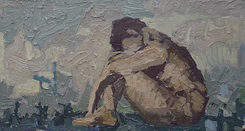 Image: <i>Tribute to Mikhail Vrubel</i>, 1977. Courtesy of Cheng Li.