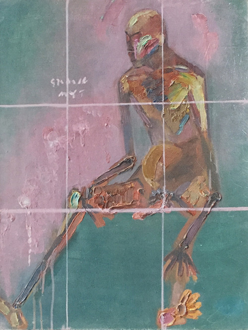 Image: Artwork by Ma Yongjin exhibited at the <i>Six Men Painting Exhibition</i>. Courtesy of Xie Yunyuan.