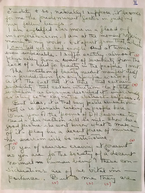 Image: Emily Hui's markup of Sher-Gil's Letter (2 of 3).