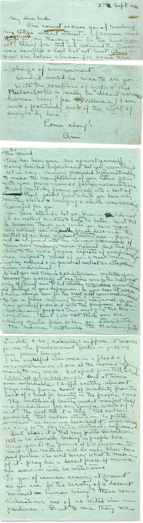 Image: Letter from Amrita Sher-Gil.