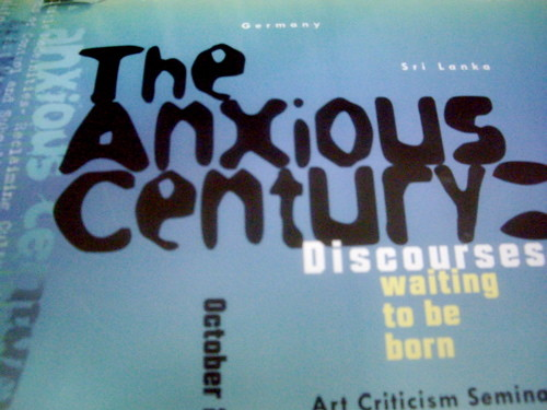 'The Anxious Century: Discourses Waiting to be Born' seminar.