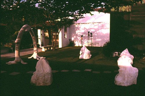 Image: View of Agnes Arellano's sculptures in the garden of The Pinaglabanan Galleries, San Juan, Metro Manila, Philippines, 1984. Courtesy of Agnes Arellano.