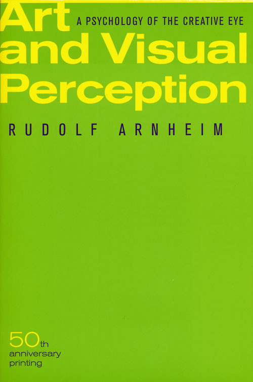 Image: Cover of <i>Art and Visual Perception</i> by Rudolf Arnheim.