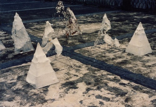 Image: Installation view of artwork by Liang Shaoji. From AAA's Collection on <i>Materials of the Future: Documenting Contemporary Chinese Art from 1980-1990</i>.