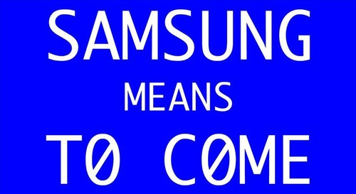 Fig. 2: <i>Samsung Means to Come</i>, 2000. Courtesy of the artists.
