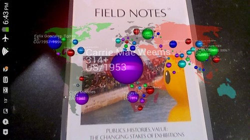 Image: ArtBubbles app rating artists in <i>Field Notes</i>, Issue 04.