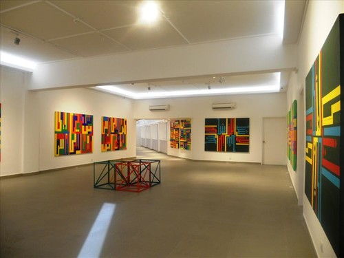 Image: <i>Rasheed Araeen: Homecoming</i>, 2014, installation views at VM Art Gallery, Karachi.