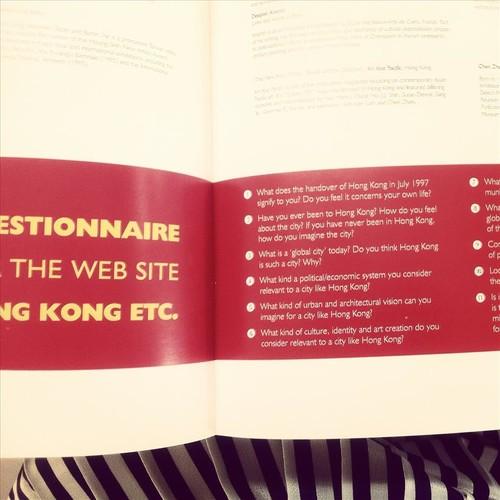 'Hong Kong, etc.' questionnaire, 'Trade Routes Catalogue'.
