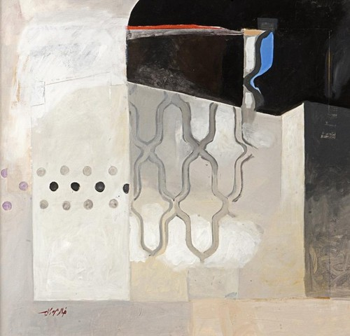Image: A Khaled Hourani painting.