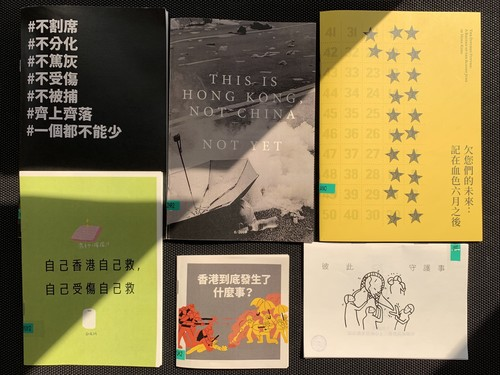Image: A selection of the zines at AAA. Photo: Debby Tsui.