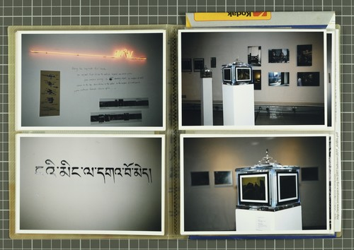 Image: Work by Sara Wong Chi Hang (top left) and Leung Chi Wo (bottom left), Kum Chi Keung (top and bottom right). Documentation of <i>Talkover/Handover</i> by Ha Bik Chuen, 2007.