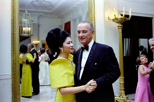 Image: US President Lyndon B. Johnson and Philippine First Lady Imelda Marcos dancing. Photo: John F. Kennedy Presidential Library and Museum, from Wikimedia Commons.