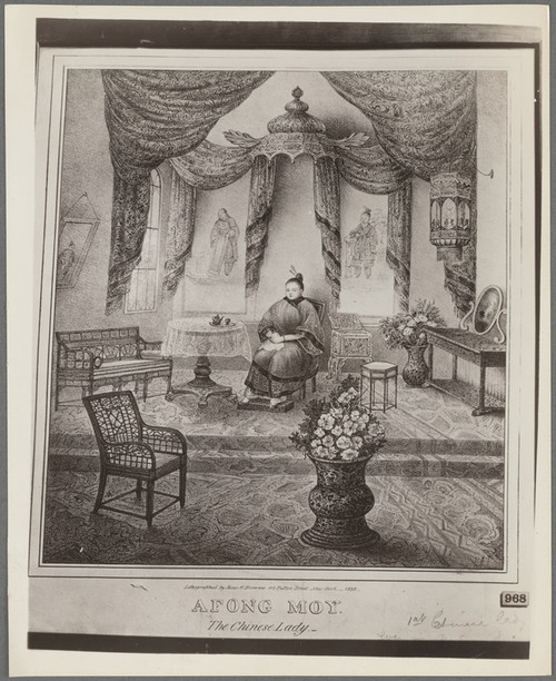 Image: Afong Moy, <i>The Chinese Lady</i>, 1835. The Miriam and Ira D. Wallach Division of Art, Prints and Photographs. Courtesy of the New York Public Library Digital Collection.