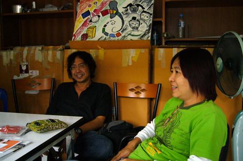 Left: Kade Javanalikikorn; Right: Sansana Siritarm of Hell University.