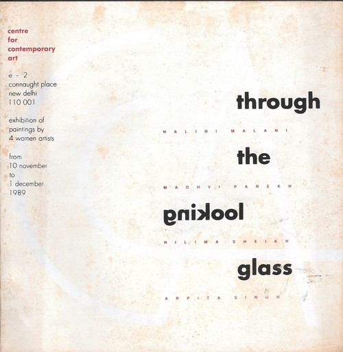 Image: Cover of <i>Through the Looking Glass</i> (New Delhi: Centre for Contemporary Art, 1989).