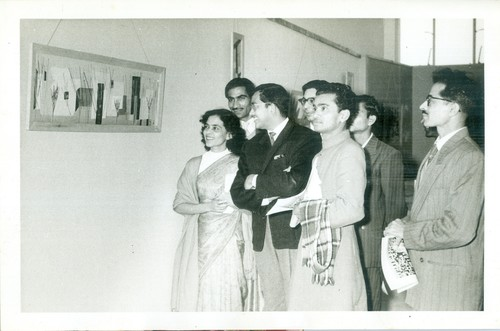 Zubeida Agha with Other Artists (Set of 2 Photographs)