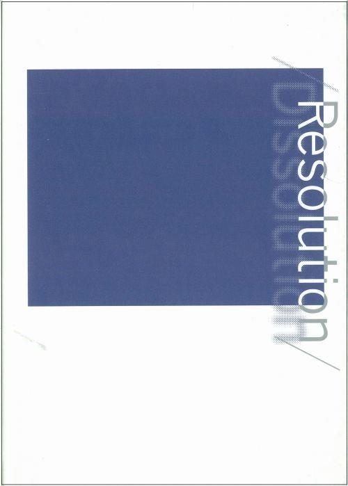 Resolution/Dissolution