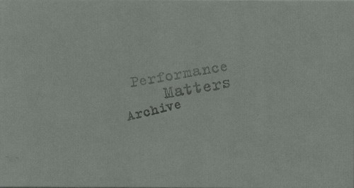 Performance Matters Archive 2010-2011