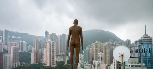 Image: Antony Gormley, Event Horizon, presented in Hong Kong by the British Council.