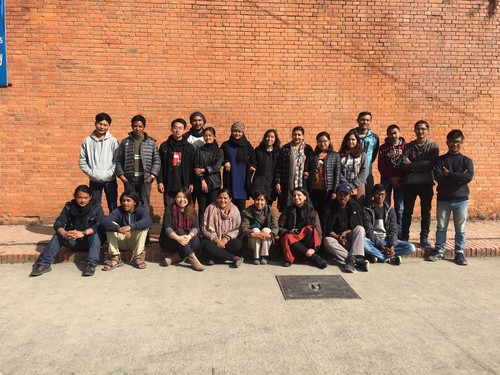 Image: Mobile Library: Nepal Team Visit to BA Fine Arts Students, Tribhuvan University, Kathmandu, Dec 2019.