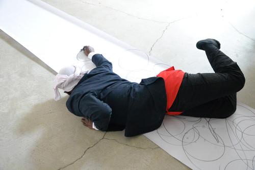 Image: Sajan Mani, 'മലയാള ശരീരം' : Performative Interventions with Archives, Srinagar Biennial Basel,2018. Photo by Markus Goessi. Courtesy of the artist and Srinagar Biennial Basel.