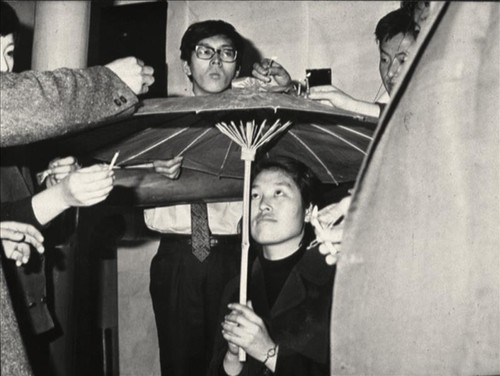 Choi Boong-hyun et al. Happening with a Plastic Umbrella and Candles. December 14 (4 pm), 1967, Seoul.
