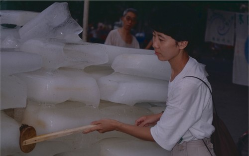 Image: Yin Xiuzhen, <i>Washing River</i>, 1995, performance, Chengdu. Betsy Damon Archive: Keepers of the Waters, Asia Art Archive Collection. Courtesy of the artist.
