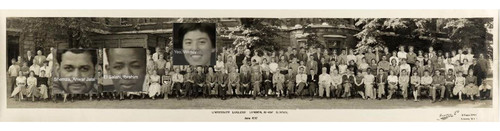 圖片:斯萊德藝術學院同班合照,1957年。合影者包括Anwar Jalal Shemza、Ibrahim El Salah及楊紫霞。由倫敦大學學院斯萊德藝術學院提供。