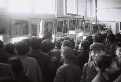Fig. 8. Li Xiaobin, The public viewing the photos at the first Nature, Society, and Man exhibition in the Orchid Room, Zhongshan Park, Beijing.