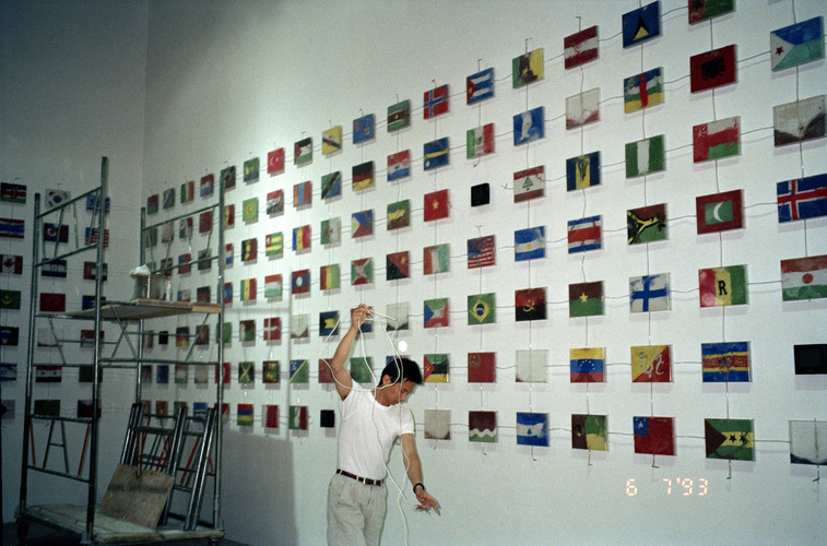 Liu Xingdian at the Opening Exhibition